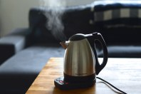 steam from a hot kettle
